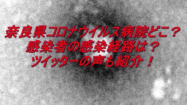 奈良県コロナウイルス病院どこ?感染者の感染経路やツイッターの声も紹介!